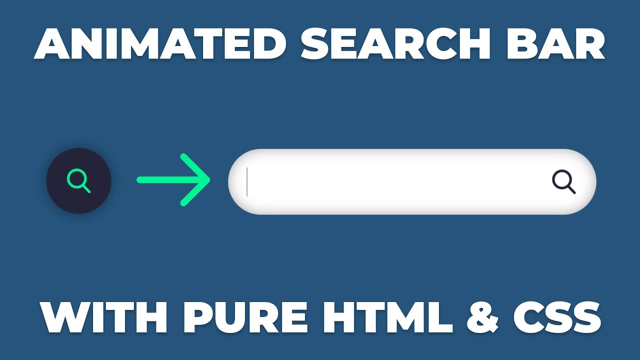 Amazing Animated Search Bar Using ONLY CSS & HTML Tutorial