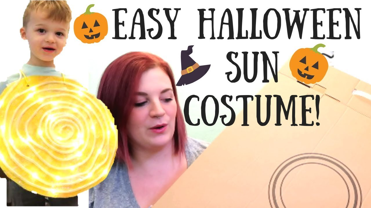 Easy Diy Costume Sun Made Out Of A Box