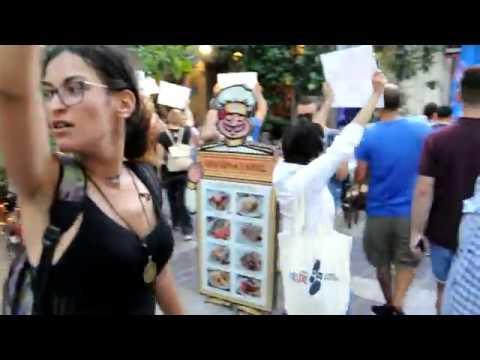 "DxE - Athens   Disruption With ""That Vegan Couple""    28-07-2019"