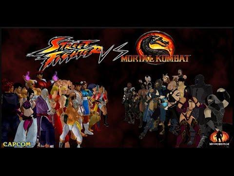 Street Fighter 2 Vs Mortal Kombat 3 Sega Megadrive Youtube