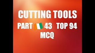 CUTTING TOOLS PART 🇨🇮 43 MCQ SOLVED QUESTION PAPER FITTER THEORY ITI