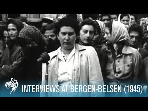 Concentration Camp Atrocities: Interviews at Bergen-Belsen (1945) | British Pathé