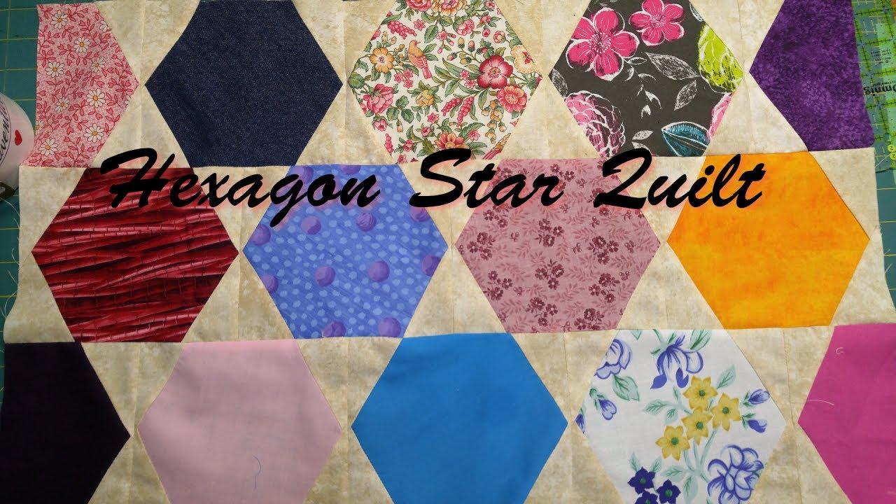 Hexagon Star Quilt - YouTube : hexagon star quilt pattern free - Adamdwight.com