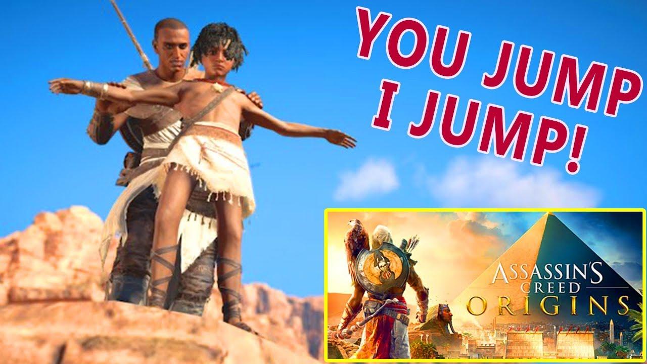 Assassin's Creed ORIGINS - Funny Moments | You Jump I Jump