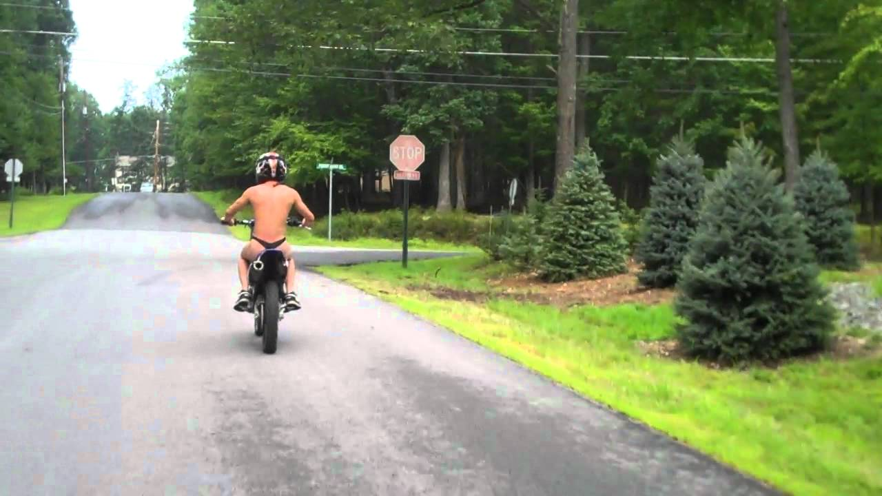 Nude riding a motorcycle - 2 part 9