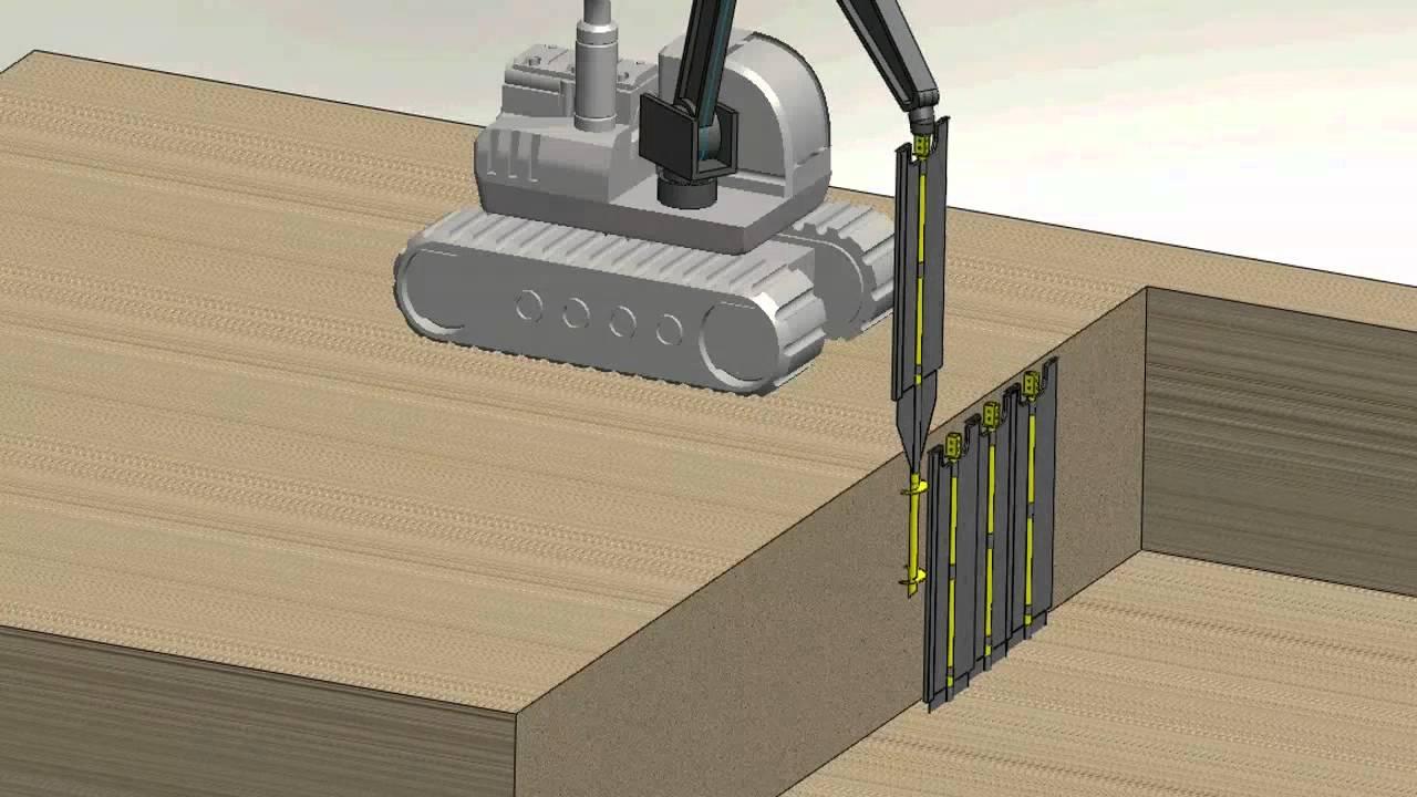 Shortek - Excavation Shoring Detail Video - YouTube
