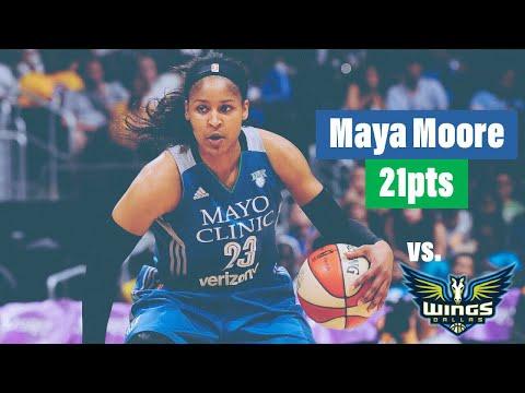 Maya Moore 21pts vs Dallas Wings - 6.19.18 | WNBA |