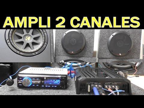 Como conectar amplificador de 2 salidas a subwoofer correcto (para principiantes)