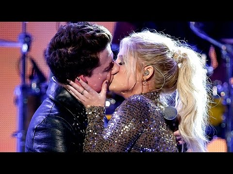 Meghan Trainor & Charlie Puth MAKE OUT on Stage at 2015 American Music Awards