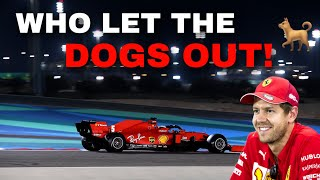 "Vettel SINGING AND JOKING -  FULL UNCUT team radio: ""Who let the dogs out? Whoof"" 