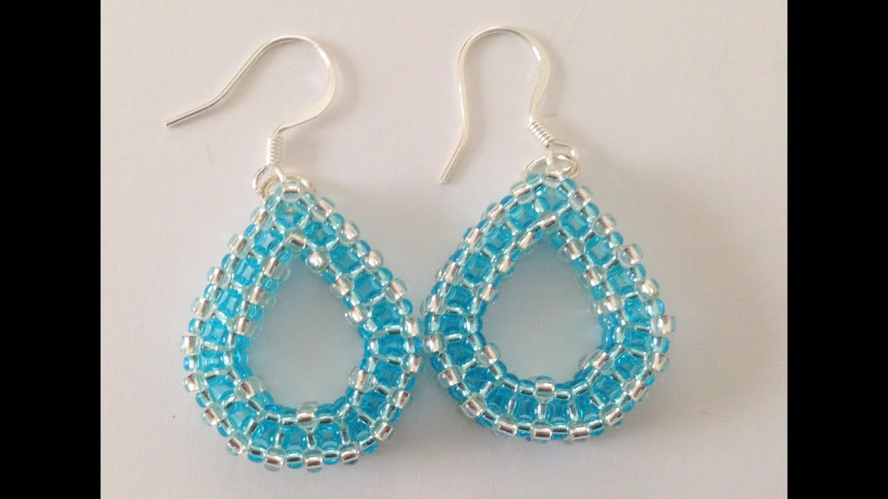 Tear Drop Earrings Craw Beginner Tutorial