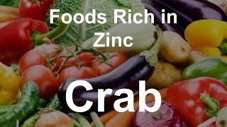 Foods Rich in Zinc - Crab
