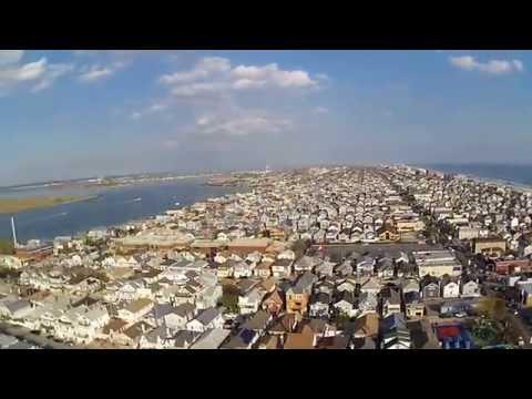 Hubsan H501s Flight Over Long Beach