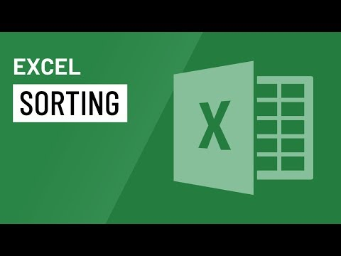 Excel: Sorting Data