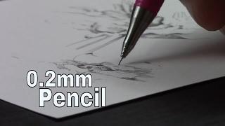 Tiny Tiny 0.2mm Mech Pencil Drawing (ง ° ͜ ʖ °)ง