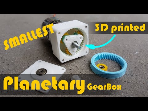 3D Printed Gearbox Planetary for RC Motor
