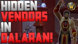 World of Warcraft: Hidden Vendors In Dalaran | How-to Get New Transmogs, Professions Items, Etc!