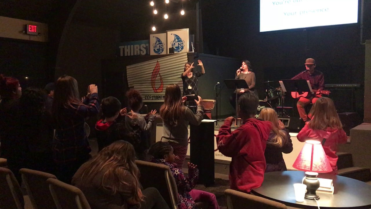 Worship night at the Tribe Students