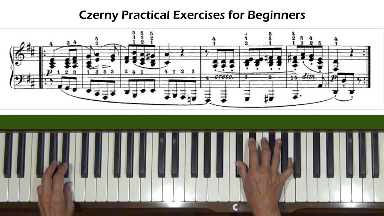 Czerny practical exercises for beginners op 599 no 52 piano czerny practical exercises for beginners op 599 no 52 piano tutorial baditri Image collections