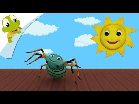 Incy Wincy Spider Song   Incy Wincy Spider 3D Nursery Rhyme with lyrics   Popular Kids Songs