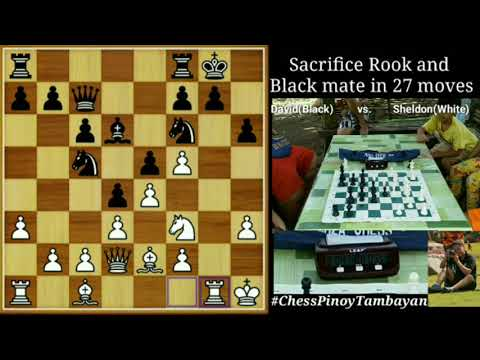 Sacrifice Rook And Black Mate In 27 Moves