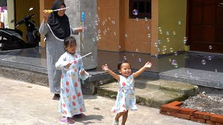 Balita Lucu Mainan Anak Bubble Soap Balon Sabun - Kids Playing bubble