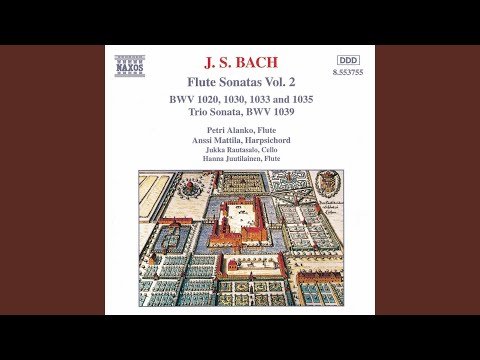 Flute Sonata In G Minor, BWV 1020 (attrib. To C.P.E. Bach, H. 542.5) (arr. For Flute And...