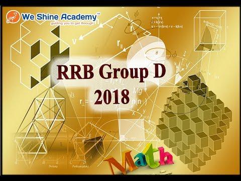 RRB Group D 2018   RRB Exam Quantitative Aptitude Discussion   We Shine Academy