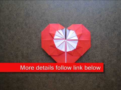 Paper Folding Origami Heart Coin Holder - YouTube - photo#16