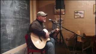John Crouch singing at Joe Sipper