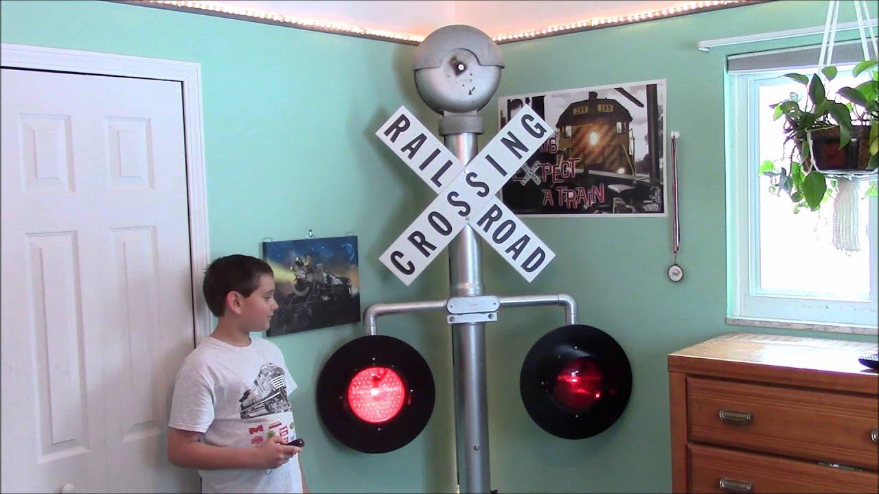 Handmade Railroad Crossing Awesome Youtube