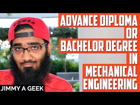 Advance Diploma or Bachelor Degree in Mechanical Engineering in Canada for Leaving Indian