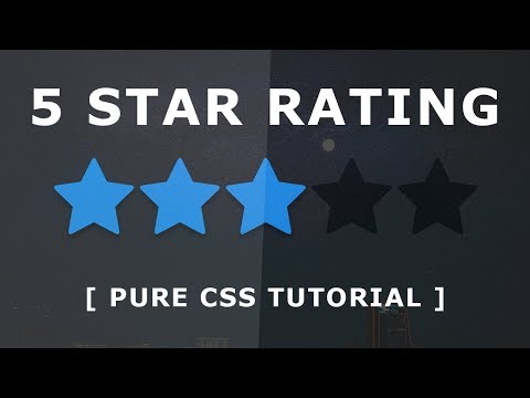 Pure CSS Star Rating Widget - How To Create A Simple Star Rating With Html And CSS - No Javascipt