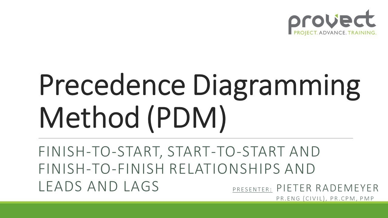 Precedence Diagram Method Project Management Mazda 121 Wiring Diagramming Pdm Incl Leads And Lags Youtube