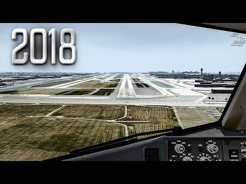 New Flight Simulator 2018 in 4K   Spectacular Approach and Landing in Los Angeles [Ultra Realism] Mp3