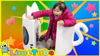 라임이의 상상놀이 캐니멀 고양이 우주선을 타요! ❤︎ 마트 놀이터 겨울왕국 LimeTube & Toys Play 라임튜브