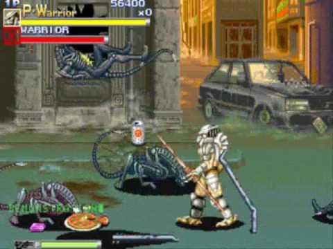 Alien Vs. Predator Arcade Game Level 1