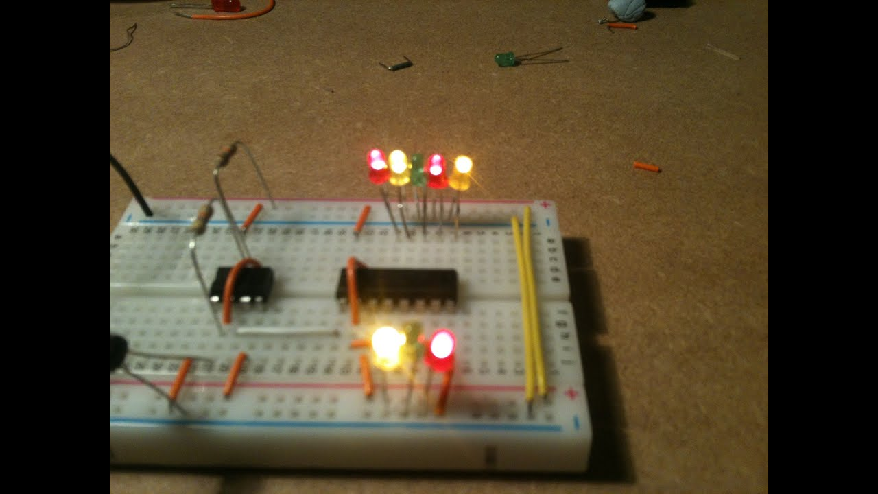 Random Led Flasher Youtube Blinking Circuit With Schematics And Explanation
