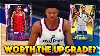 NBA 2K20 ALL STAR PINK DIAMOND GIANNIS ANTETOKOUNMPO GAMEPLAY! Worth The Upgrade In NBA 2k20 MyTEAM?