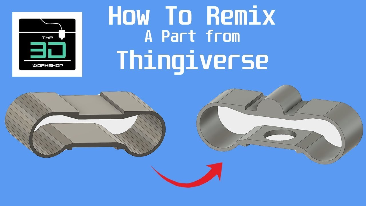 How to Remix a Part from Thingiverse - CAD Design for 3D Printing
