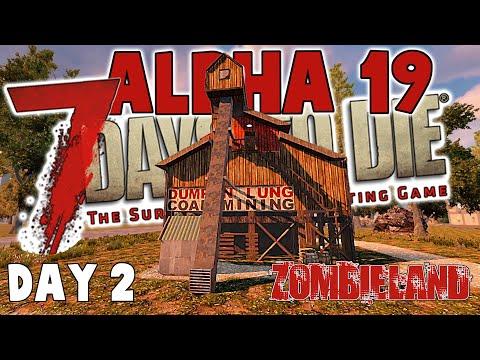 7 Days To Die Alpha 19 - Zombieland Day 2