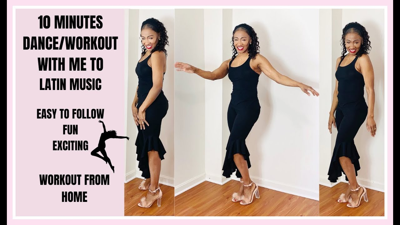 DANCE WORKOUT AT HOME TO LATIN MUSIC|EASY EXERCISE TIPS FOR WOMEN OVER 50