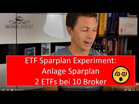 Anlage ETF Sparplan - 2 ETFs bei 10 Broker angelegt (Flatex, DADAT, Hello Bank, FFB, Consorsbank...)