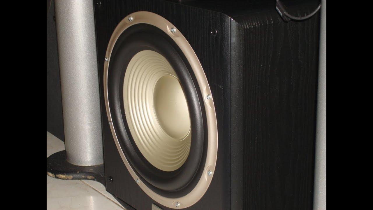 JBL Subwoofer L8400p Bass Test Woofer Excursion Receiver ...