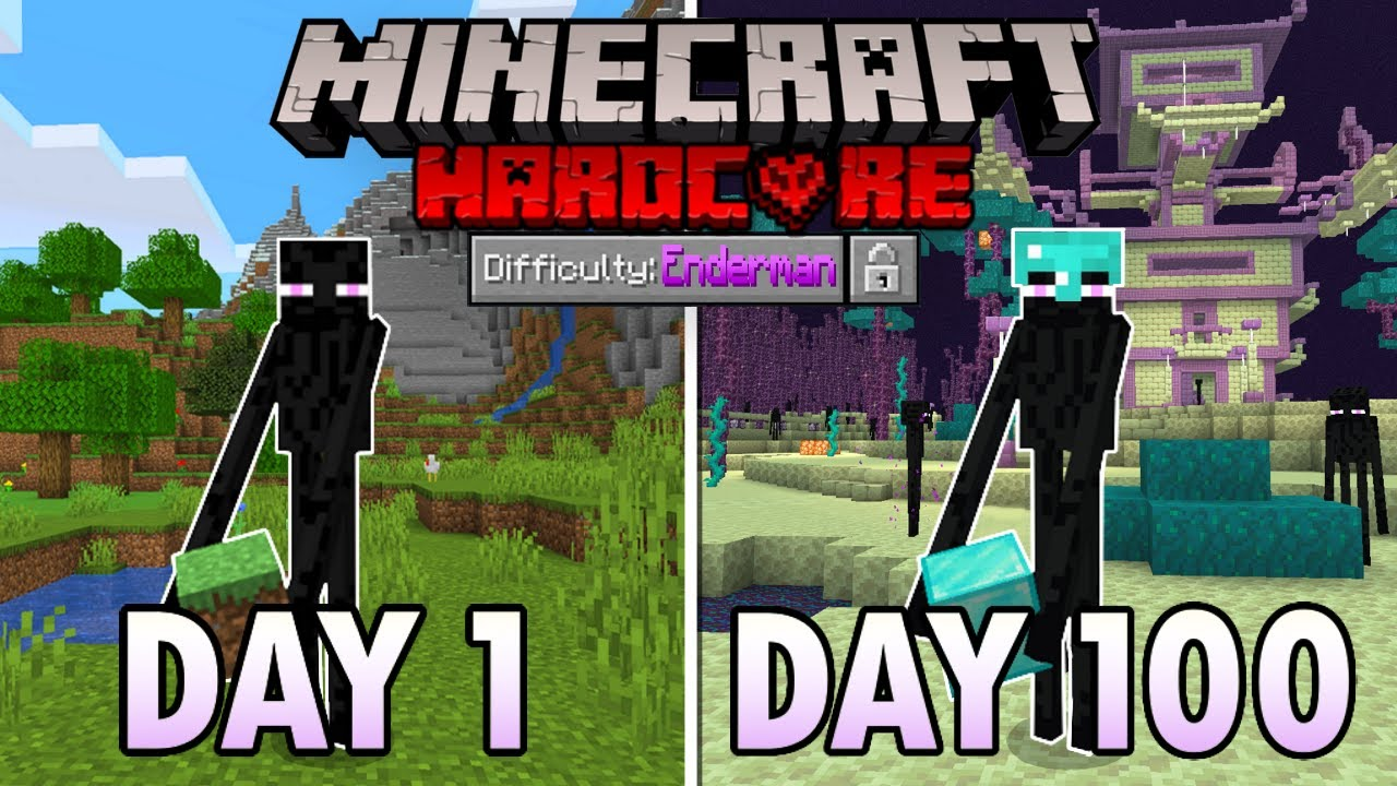 I Survived 100 Days as an Enderman in Hardcore Minecraft… Here's What Happened