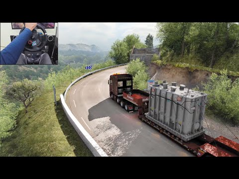 Scania S730 - Transporting A 47t Transformer | Euro Truck Simulator 2 | Logitech G29 Gameplay