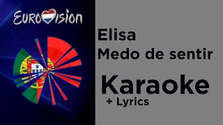 Elisa - Medo de sentir (Karaoke) Portugal Eurovision 2020