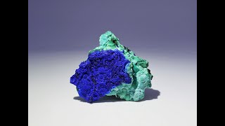 Azurite with ChrysocollaMineral Specimens from Liufengshan Mine, China