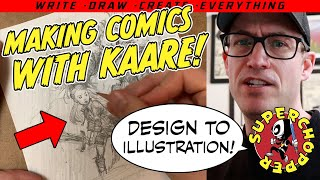 """Making Comics #WithMe! """"DESIGN TO ILLUSTRATION"""". No new comics? Make YOUR OWN!"""