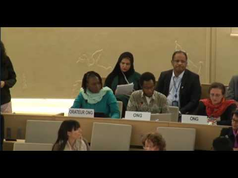 EAFORD - 34th Session of the Human Rights Council-ID Commission on South Sudan Mr Mutua Kobia